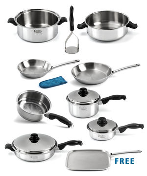 Dedicated Chef Cookware Set w/ FREE Griddle