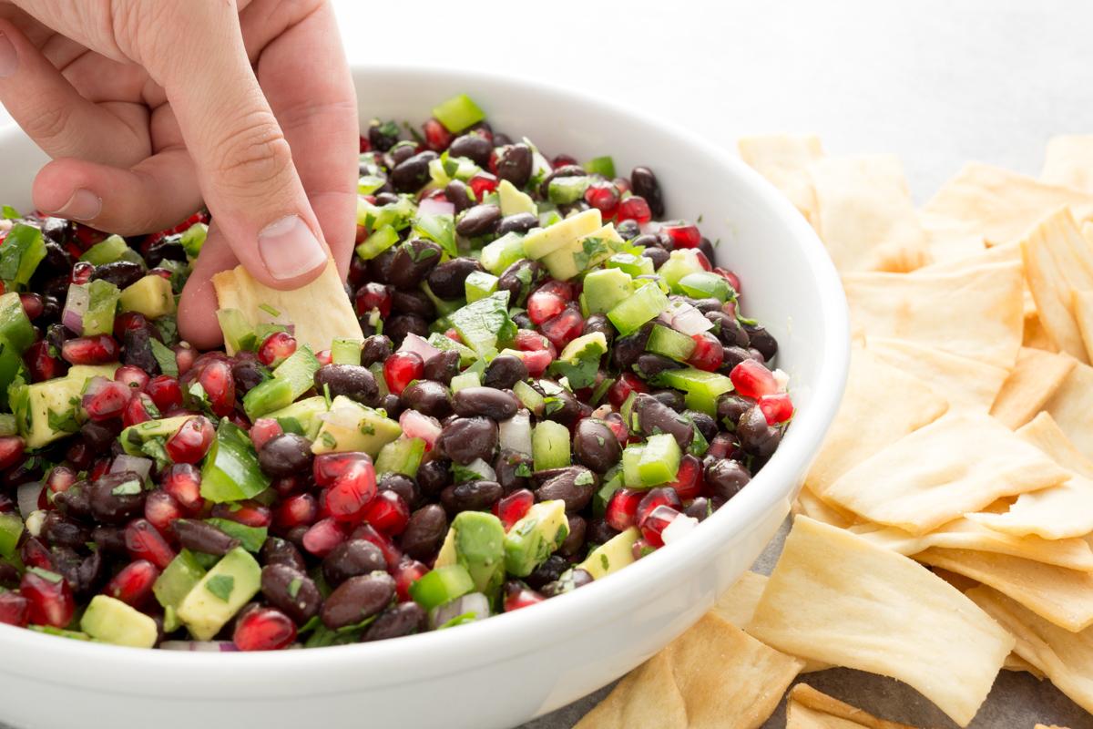 Pomegranate, Black Bean and Avocado Salsa Fresca